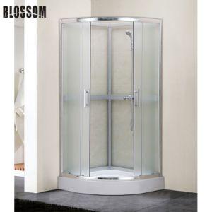 De aluminio cromado 5mm Cristal simple cabina de ducha sin techo