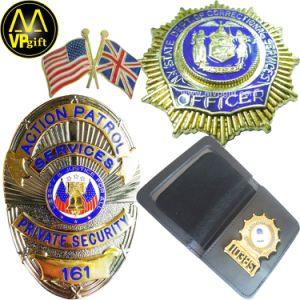 Personalizado de alta calidad 3D de metal oro y plata la impresión de esmalte de la Policía Militar de la bandera del Ejército Pin como