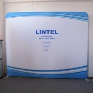 展示会の張力ファブリック表示背景幕の表示