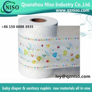 Película de PE laminado completo Nonwoven Fabric para fraldas para bebés fraldas para adultos a Chapa Traseira Cloth-Like Nonwoven