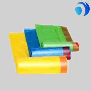El color de impresión personalizadas Compostable basura HDPE LDPE la fécula de maíz alto en el Hogar Médico de plástico biodegradables de cocina con cordón de la bolsa de basura