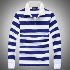 Gestreifter Polo Shirt mit Long Sleeve