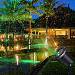 太陽レーザー光線の星プロジェクター庭のヤードの景色のクリスマスの休日の防水スポットライトの装飾の照明