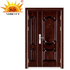 Mejor Precio de alta calidad de acero exterior de la seguridad de la puerta de hierro (SC-S077)