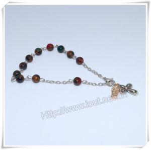 La nuova pietra Colourful borda il braccialetto cattolico del rosario sulla catena (IO-CB181)