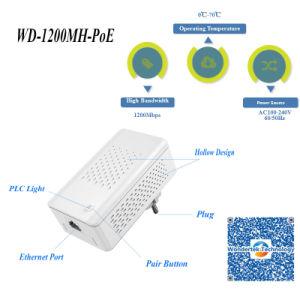 Wd-1200mh-Poe de extensión de red adaptador Homeplug Powerline Ethernet Bridge PLC Módem