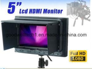 HDMI de Entrada / Salida 800X 480 Cámara Profesional de 5 Pulgadas LCD Monitor, 16: 9 con el Modo de Cámara 5D II