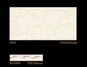 Inkjet 300X600mm de Verglaasde Binnenlandse Ceramische Tegel van de Muur voor Bouwmateriaal (6909)