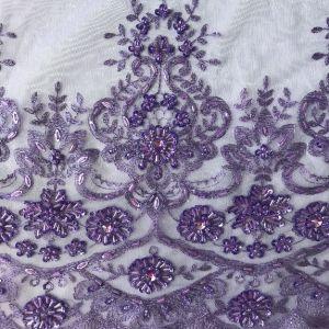 Malla con bordados Sequin, cristales y abalorios en cualquier color