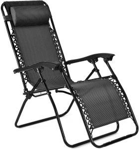 Salón de ocio al aire libre en el interior de la Gravedad Cero silla plegable con bandeja y almohada