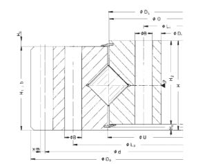 Rothe Erde engranaje externo de rodillos cruzados de anillo de rotación (161.25.1077.890.11.1503)