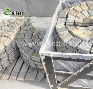 錆ついたスレートのファン屋外の舗装のための網の整形玉石の石