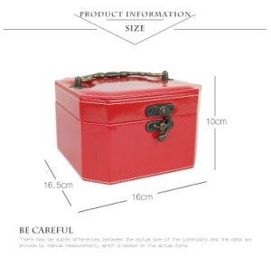 流行の段階的PUの革虚栄心のケースのハンドメイド装飾的な収納箱