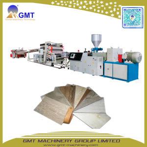 Precio competitivo de PVC de buena calidad, suelos de madera mosaico de la máquina extrusora de tablones