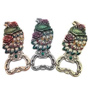 カスタム昇進の孔雀の形の記念品のギフト(009)として多彩な金属のクラフトの赤ワインの栓抜き