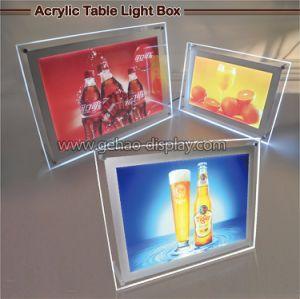 アクリルのライトボックスの表示を広告する屋内照らされたLED