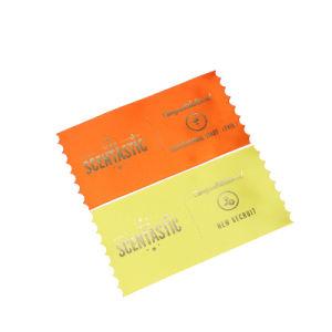 금 의류를 위한 최신 각인 로고에 의하여 인쇄되는 공단 주요 레이블