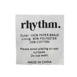 도매 의복은 똑바로 면 직물 인쇄한 주요 레이블을 삭감했다