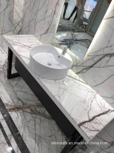 カウンタートップおよび壁のクラッディングのための白いもみの大理石の平板