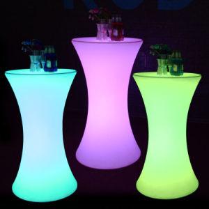 Comercio al por mayor de cilindro de LED de Batería recargable de Tabla Tabla LED Cóctel