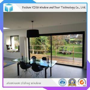 Yika Temered Doble salto térmico de vidrio de ventana corrediza de aluminio
