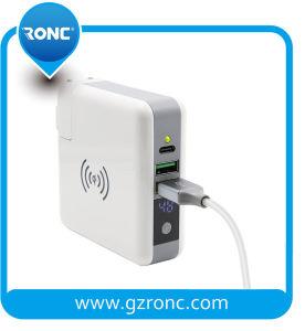 Новый дизайн портативных 3 в 1 Qi беспроводной зарядки банка