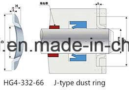 Brown FPM Viton FKM Hg4-338-66 junta tipo J