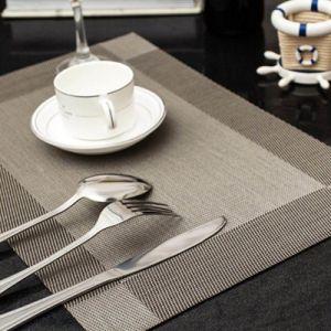 Venda de fábrica Hotel Polyeaster Placemat de PVC branco de mesa (CCI955)