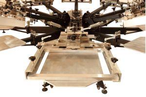 Strumentazione di stampa della matrice per serigrafia della stazione di colore 6 di affari di stampa dello schermo di Ns606-HD DIY 6