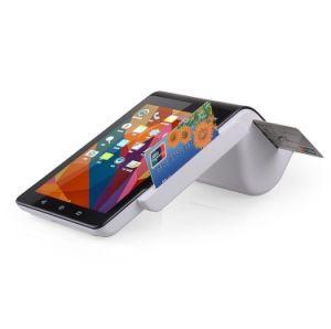 La pantalla dual Android POS Terminal NFC Máquina con el escáner de códigos de barras cámara e impresora todo en uno de PT7003