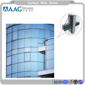 Profil de portes et fenêtres en aluminium mur rideau en verre