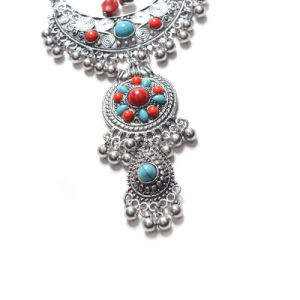 البوهيمي بلّوريّة أسلوب [فشيون كّسّوري] ينظم عقد 2018 بوهيميا مجوهرات نمط [تسّل] [جولّري] [بوهو] مجوهرات