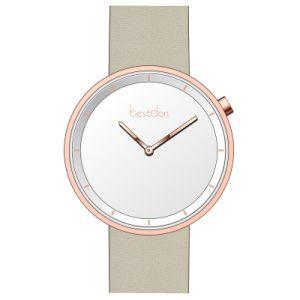 3ATM Resistente al agua reloj reloj minimalista Men's Watch Reloj en cuero