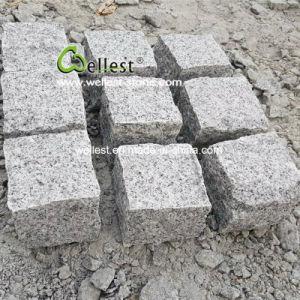 Со всех сторон природных Split разорванные серого гранита асфальтирование камня