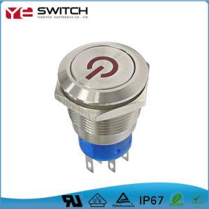 À prova de redefinição elétrica Comutador de alimentação contactor rotativo on-off Micro Interruptor de Botão Basculante para carros automático