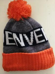 チーム米国ダラスの標準的な人は冬の帽子を厚く編む袖口の帽子の帽子を暖める