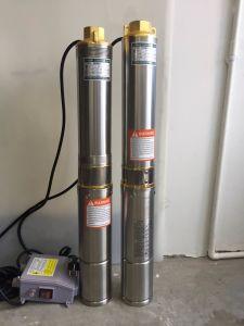 Connexion de sortie de cuivre Le cuivre en acier inoxydable pompe submersible à puits profond.