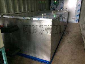 Disegno messo in recipienti mobile 5 tonnellate della salamoia di macchina del ghiaccio in pani in contenitore 20gp