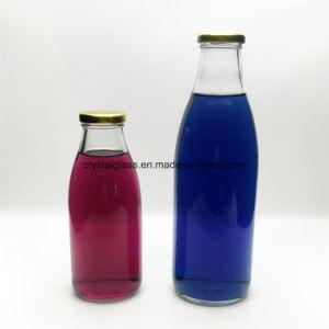 runde 32oz/950ml Kokonussmilch-Glasflasche mit Metallkappe 1L