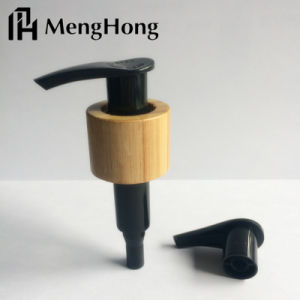 Dispensador de plástico da bomba de loção cosméticos com bambu para garrafa