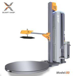 Pressão superior da máquina de embalagem de paletes com função de filme de corte automático