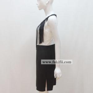 Fabricant de marque populaire de qualité supérieure Mesdames Bureau robe avec des glands