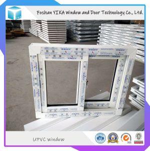 Proyecto de alta calidad/ precio de UPVC ventana de PVC con vidrio simple