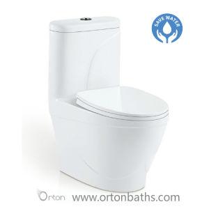 Sanitarios de porcelana de una pieza de cerámica de retrete wc