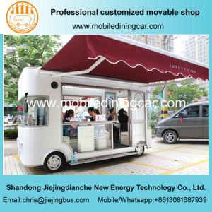 Quatre roues Mobile électrique de remorque/exposition commerciale pour la vente du chariot