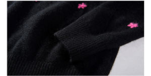 女性の円形の首のカシミヤ織のセーター(13brdw033)