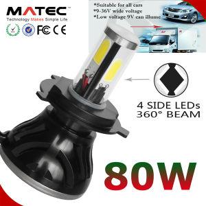 40W 4000LM COB H11 Hi/Lo MOTO MOTOCICLETA de LED la bombilla del faro de luz LED de H4 para coche