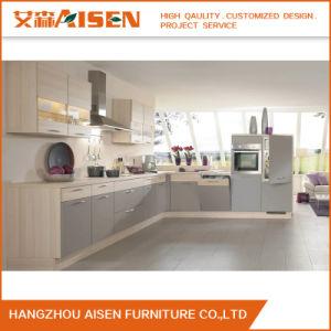 Fácil montaje moderno lacado armario Modular Muebles de Cocina ...