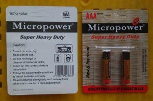 Superenergien-Kohlenstoff-Zink-trockene Batterie