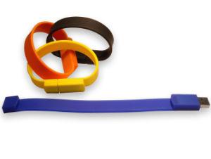 安のカスタマイズ可能なロゴのシリコーンのブレスレットUSBのフラッシュ駆動機構の大きさ